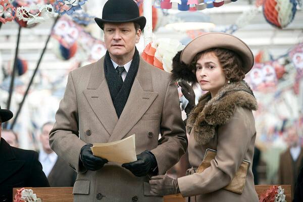 Colin Firth und Helena Bonham Carter während der Dreharbeiten
