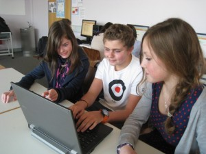 DFG-Schüler testen gengo.de (Foto: Mathias Bader)