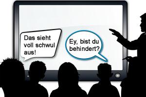 Behindert und schwul - Schimpfwörter?