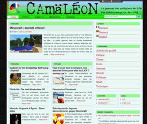 Camäléon-Webseite im Oktober 2011