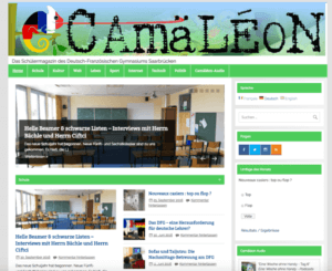 Camäléon-Webseite im Oktober 2016
