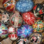 Traditional Easter eggs in Ukraine: Happy Easter holidays!