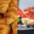 Sandwich und Croissants