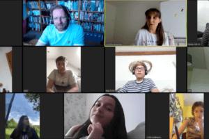 Zoom-Konferenz der Camäléon-Redaktion